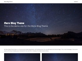 Mere Blog Theme screenshot