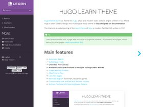 Hugo Learn Theme screenshot