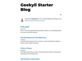 Geekyll Starter Blog screenshot