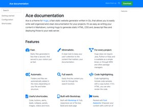 Ace documentation screenshot